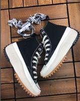 suela gruesa calzado deportivo al por mayor-J. W. Anderson mandril Run Run estrella caminata 1970S estrella x JW Anderson suela gruesa mujeres de los hombres zapatillas de deporte pantshoes Ejecución de calzado deportivo zapatillas de deporte