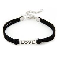 стильные подарки оптовых-Stylish Bar Korean 175mm Women Men Love Handmade Alloy Rope Charm Jewelry Weave Bracelet Bangle Leather Gift dropship #0521