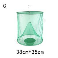Wholesale flying trap for sale - Group buy Reusable Green Insect Trap Bug ECO Suspension Fly Catcher Cage Nylon Network Outdoor Tool Pest Control ZZA735