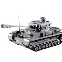 kraft spielzeug großhandel-Neue Produkte Heißer Verkauf Military Field Forces Fighting Montiert Panzermodelle kinder Puzzle Bausteine Jungen Spielzeug