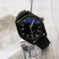erkekler için otomatik askeri saatler toptan satış-Yeni erkek mekanik otomatik tasarımcı saatler saatler usta Klasik pilot serisi askeri başkan siyah lüks İzle man spor kol