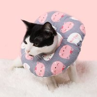 Wholesale e collar dogs resale online - Pet Soft Cotton Stuffed Elizabeth Collar Dog Cat Protective Recovery Collar For Preventing Licking Wound Pet Anti bite E Collar