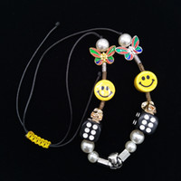 Wholesale skeleton necklaces for sale - Group buy New Designer Colorful Skeleton Dice Emoji Butterfly Pearl Asap Rocky Mens Womens Necklace Hiphop Rapper Rope Jewelry Gifts for Boys Girls