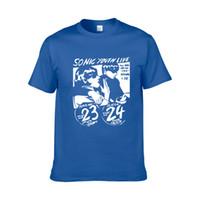 ingrosso basso rock-T-shirt giovani Sonic uomini divertenti sticky classic rock band vocals band bass guitar punk rock maglietta femminile marea marchio manica corta H6