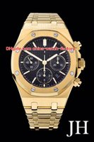 Wholesale 18k luxury watches swiss resale online - 3 Style Best Quality Watch mm Offshore ST OR k Gold Swiss ETA Movement Chronograph Working Mens Men s Watches