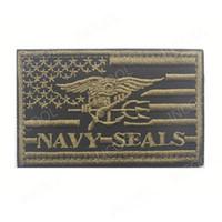 taktischen usa-flagge patch groihandel-3D Stickerei Patch USA amerikanische Flagge US Navy Moral Patch taktische Emblem Applikationen Dichtungen Abzeichen HookLoop gestickte Patches