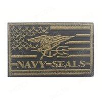 parches bordados banderas al por mayor-Parche de bordado 3D Bandera americana de EE. UU. Parche de moral de la marina de EE. UU. Emblema táctico Apliques Sellos Insignias Parches bordados de gancho