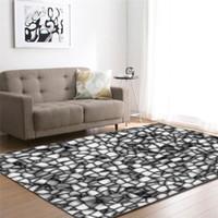 Wholesale livingroom rugs resale online - Nodic Modern Stone Line D Print Carpet for Livingroom Bedroom Area Rug Floormat Absorbent Non Slip Large Doormat Home Decor