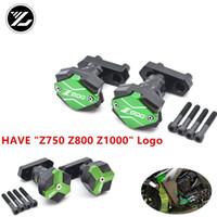 ingrosso protettore cursori telaio-Z800 Logo CNC Frame Sliders Pad protezione anticaduta per Z800 2013-2016 14 15 coperchio protezione motore