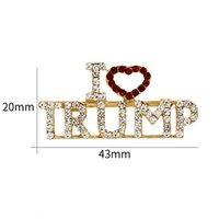 satmak için broş toptan satış-I Love Trump Broş Alaşım Yapay elmas Meme-Pin İngilizce Mektup Korsaj Moda Yaratıcı Sıcak Satış yılında Avrupa Ve Amerika 3 8md J1