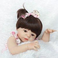 bebeğin canlı silikonu toptan satış-Sıcak Satış Gerçekçi Tam Silikon Yeniden Doğmuş Bebek Menina Alive 23 '' toddler Bebek Bonecas kız çocuk bebe bebek kız oyuncaklar hediyeler