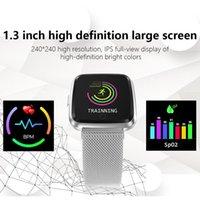 sport magnetischen armband großhandel-Y7 Magnetic 1,3 Zoll Smart Watch Großbild Schrittzählen Herzfrequenzüberwachung Nachricht Erinnerung BPM Sport Smart Armband