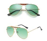 Wholesale shades goggles for men resale online - Brand Designer Sunglasses Classic Pilot Sunglasses for men women Metal Frame Driving glasses uv400 Lens Mirror Goggle Shades