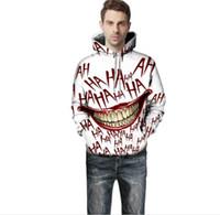homens engraçados dos hoodies venda por atacado-Boca Grande Imprimir Homem Hoodies Moda Rir Engraçado Donna Tops Primavera E Casais Outono Combinando Roupas