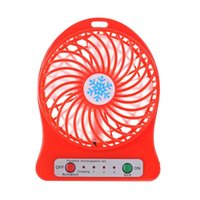 Wholesale battery operated coolers for sale - Group buy 2017 Portable Rechargeable LED Fan air Cooler Mini Operated Desk USB Battery ma19