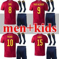2020 2021 spain soccer jersey Adult and kids 20 21 camiseta de fútbol SERGIO A.INIESTA koke ASENSIO ramos SILVA isco cup football