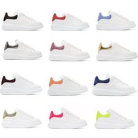 Wholesale Wedding Shoes - Top Luxury Designer Shoes Womens Mens trainers White Leather Platform Shoes Flat Casual Party Wedding Shoes Suede Sports Sneakers