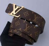 tela de gamuza con estampado de leopardo al por mayor-2019 Cinturones de diseño Hombres y mujeres Cinturón de moda Mujer Cinturón de cuero Oro Plata y Hebilla negra