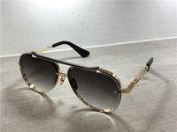 mavi gölge toptan satış-Altın / Siyah Pilot Güneş Gözlüğü Gri Mavi Gölgeli Lens Güneş Gözlükleri Erkek Lüks Tasarımcı Güneş Gözlüğü Shades kutusu