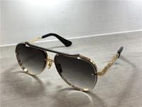 blaues objektiv für gläser großhandel-Gold / Schwarz Pilot Sonnenbrille Grau Blau Schattierte Linse Sonnenbrille Herren Luxus Designer Sonnenbrille Sonnenbrille mit Box