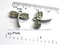 perlas de vidrio de murano chapado en oro al por mayor-Precio al por mayor 10 unids forma de libélula colgante collar colgante accesorio