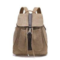 джинсовые сумки оптовых-2019 новый мальчик школьный рюкзак старинные мужские сумки на шнуровке холст дорожные сумки повседневная джинсовая рюкзак Zl55