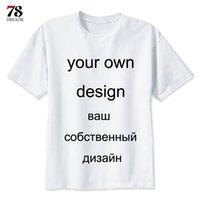 t-shirts personnalisés, plus la taille des femmes achat en gros de-Votre propre marque de design Logo / image personnaliser T-shirt à manches courtes bricolage Plus Size personnalisé T-shirt hommes / femmes pour homme / femme