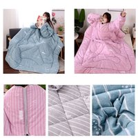 ingrosso manica di trapunta-Winter Lazy Quilt With Sleeves Quilt Winter Warm Ispessito Lavato Coperta Nov23 Drop Ship