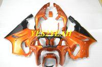 motosiklet fuar kiti zx7r toptan satış-KAWASAKI Ninja için motosiklet Fairing kiti ZX-7R ZX7R 1996 1999 2000 2003 ZX 7R 96 99 00 03 ABS Turuncu Marangozluk kaporta + hediyeler