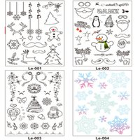 Wholesale tattoo stickers tree for sale - Group buy Christmas Decorations for Home Luminous Temporary Tattoo Stickers New Year Kids Decor Christmas Natal Garland Q