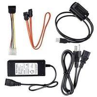 yeni sabit sürücü kablosu toptan satış-Yeni Varış SATA / PATA / IDE Sürücü için USB 2.0 Adaptörü Dönüştürücü Kablosu 2.5 / 3.5 Inç Sabit Disk Sıcak Dünya Çapında