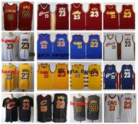 Wholesale cleveland cavaliers for sale - Group buy Throwback Cleveland Cavaliers Mens LeBron James Jersey Authentic Vintage Basketball Hardwoods Classics Jerseys Red Blue White