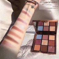 venus geschenke großhandel-Dropshipping Hot Makeup Palette Venus Marmor 9colors Lidschatten-Palette Augen Kosmetik Mammonismus / Romantik 2 Styles mit Geschenk