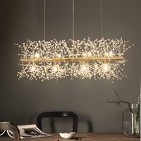 Wholesale nordic style chandeliers for sale - Group buy 2019 Snowflake Chandelier Nordic Style Lamp Creative Personality Crystal Model Atmosphere Light Luxury Living Room Lighting