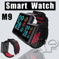 Wholesale sell gps for sale - Group buy Top selling M9 Smart Watch Sport IP68 Waterproof Blood Heart Rate Monitor Fitness Tracker Smart Bracelet polymer for IOS Android