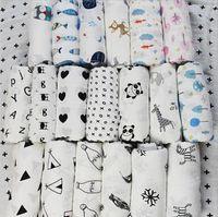 camas orgânicas venda por atacado-Cobertores Do Bebê Musselina Crianças Swaddle Photogrops Recém-nascidos Algodão Orgânico Wraps Swaddling Toddle Sack Saco De Toalhas De Banho Parisarc Cama A33