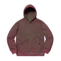 pulls molletonnés achat en gros de-19FW BOX LOGO X TOPST0NEY À CAPUCHE SWEATSHIRT Hommes Femmes hoodies Col Sweatshirts De Mode En Difficulté HFLSWY314