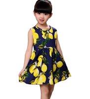 ingrosso mini vestito coreano senza maniche-Summer Lemon Fashion 100% puro cotone ragazza abito coreano senza maniche abito senza maniche