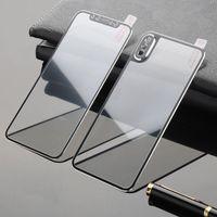 remplacement de couverture avant d'iphone achat en gros de-3D 9H courbe bord avant arrière en verre trempé pour iPhone X XR Couverture de protection de plein écran de protection pour Apple iPhone XS Max XR