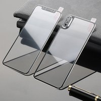 iphone ön kapak kasası toptan satış-Apple iPhone XS Max XR için iPhone X XR Tam Ekran Koruma Yedek Kılıf Kapak için 3D 9H Kavisli Kenar Ön Arka temperli cam