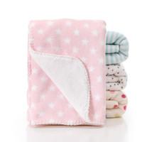 cobertores de camada dupla venda por atacado-9 Tipos de Bebê Cobertores Macios 100 * 150 cm Dupla Camada de Lã Coral Cobertor Do Bebê recém-nascido Impressão de Calor Cobertores Infantis Crianças Quente Cobertor BC BH0740