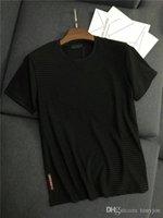 weste t-shirt männer xxl großhandel-19ss Neue Ankunft PRAD Männer Paris Liebhaber Baumwolle T-shirts Druck Kurzarm Sommer T Atmungsaktive Weste Hemd Streetwear Outdoor T-shirt