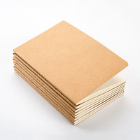 boş not defterleri toptan satış-Toptan 8.8X15.5 CM kağıt dizüstü boş not defteri kitap vintage yumuşak lekelemek günlük notlar Kraft kapak dergisi notebooklar not defteri