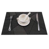 platz sätze großhandel-Set mit 4 Tischsets, waschbar, hitzebeständig, Esstischmatten, Tischset aus gewebtem Vinyl-PVC, Untersetzer für Gartengrill im Freien