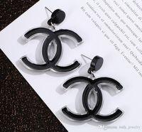 Wholesale oversize jewelry resale online - Luxury Letter Earrings New Fashion Jewelry Women Earrings Oversize Elegant Earrings for Gift