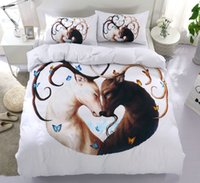 Wholesale beddings for sale - Group buy Butterfly deer Bedding set Brown gray bedroom decorating home textiles Lovers deer bedclothes beddings and bed sets