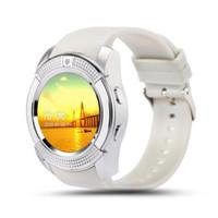 sim für gps tracker großhandel-V8 GPS Smart Uhren Bluetooth Smart Touchscreen Armbanduhr mit Kamera / SIM-Kartensteckplatz Wasserdichte Smart Watch für IOS Android Phone Watch