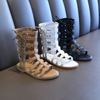 Wholesale high cut shoes for kids for sale - Group buy Sandals Kids Girls High top Little Girls Roman Sandals Cut out Beach Shoes for Girls Gladiator Sandals Shoes Summer Boots Shoes T200428