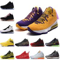 uomini scarpe da basket LeBron17james 17 17s XVII NERO BIANCO futuri TAPPETO ROSSO viola giallo 2k mens formatori Sport Sneaker 7 12