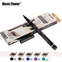 Wholesale brand pens sale for sale - Group buy Hot Sale Music Flower Color Black Brown Blue Purple Green Liquid Eye Liner Pen Waterproof Eyeliner Brand Makeup Eye Cosmetics